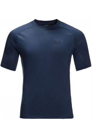 Jack Wolfskin T-Shirt Mountain Tech Donkerblauw