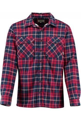 Ayacucho Hemd Flannel Padded Donkerblauw/Donkerrood