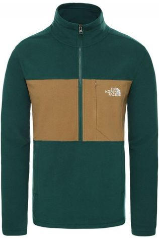 The North Face Fleece Blocked Tka 100 Donkergroen/Lichtbruin