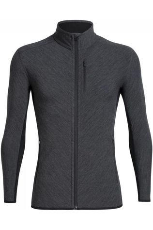 Icebreaker Fleece Descender LS Zip Zwart