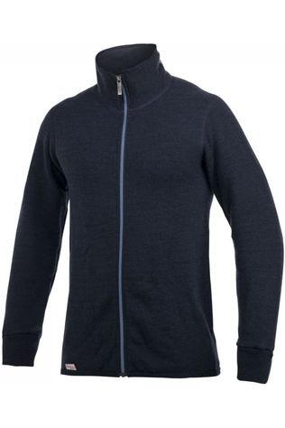 Woolpower Trui Full Zip 400 (unisex midlayer) Marineblauw/Blauw