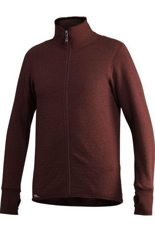 Woolpower Pull Full Zip Jacket 400 (unisex midlayer) Rouge Foncé