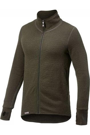 Woolpower Trui Full Zip Jacket 400 (unisex midlayer) Donkergroen