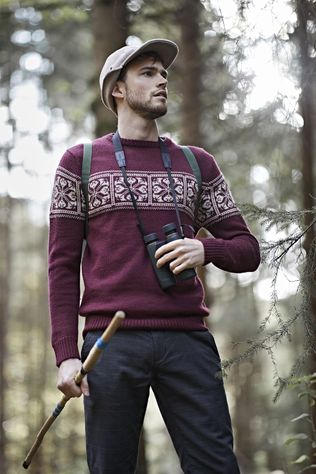 Ayacucho Trui Knight Sweater Bordeaux / Kastanjebruin