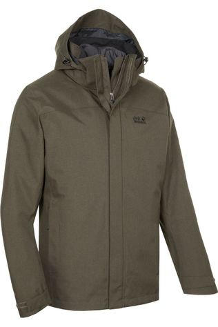 Jack Wolfskin Coat Glencoe Sky 3In1 dark brown
