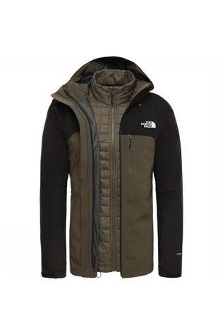 The North Face Jas Thermoball Triclimate Donkerkaki/Zwart