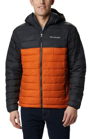 Columbia Manteau Powder Lite Hooded Gris Foncé/Orange