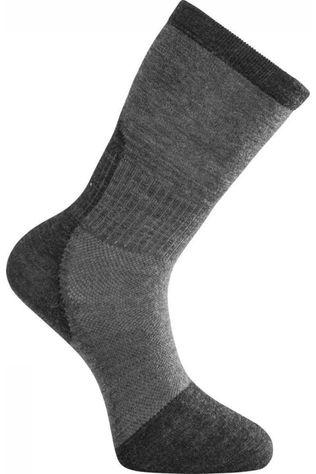 Woolpower Chaussette Skilled Classic Liner (thin technical hiking sock) Gris Foncé/Gris Moyen