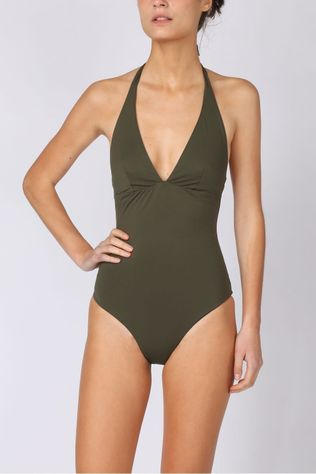 Kiwi Bathing Suit Bicolore black/dark khaki