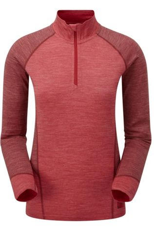 Sprayway Ondergoed Kara 1/2 Zip Middenrood/Donkerrood