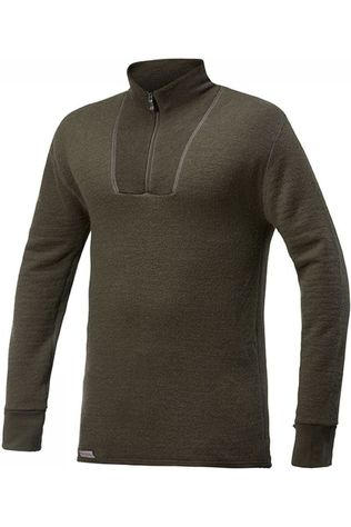Woolpower Ondergoed Zip Turtleneck 200 (unisex baselayer) Donkergroen