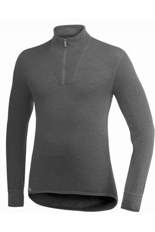 Woolpower Underwear Zip Turtleneck 200 (unisex baselayer) mid grey/light grey