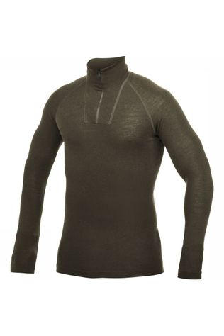 Woolpower Underwear Zip Turtleneck Lite (unisex baselayer) dark green
