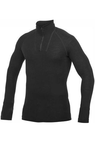 Woolpower Ondergoed Zip Turtleneck Lite (unisex baselayer) Donkergrijs (Jeans)