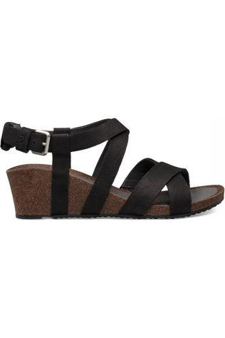 Teva Sandale Mahonia Wedge Cross Strap Noir