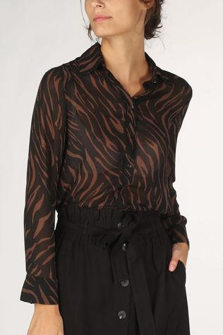 Grace&Mila Shirt Belinda brown/black
