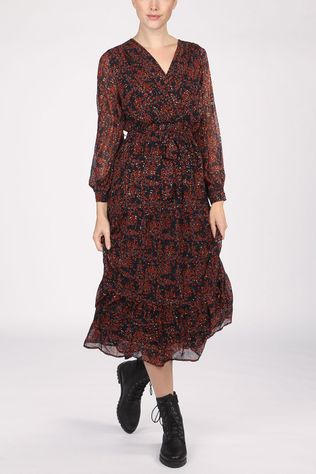 Grace&Mila Dress Burgundy Navy Blue/Red
