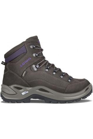 Lowa Shoe Renegade Mid Gore-Tex Dark Brown/Aubergine