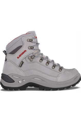 Lowa Shoe Renegade Mid Gore-Tex light grey/red