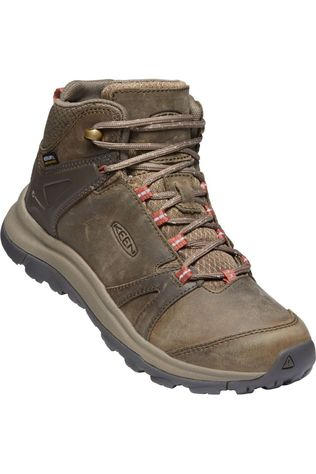 Keen Chaussure Terradora II Mid Leather WP Brun moyen/Rose Moyen