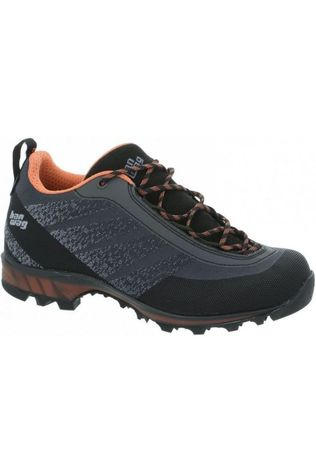 Hanwag Schoen Ferrata Light Low Gore-Tex Donkergrijs/Oranje