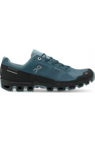 On Running Schoen Cloudventure Waterproof Petrol/Zwart