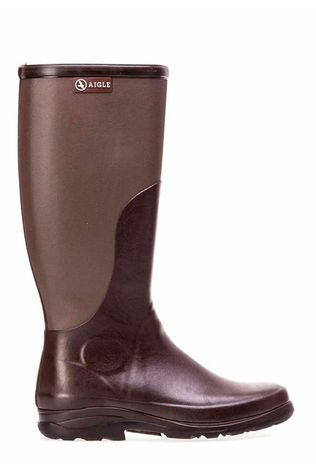 Aigle Laars Rboot Donkerbruin/Taupe