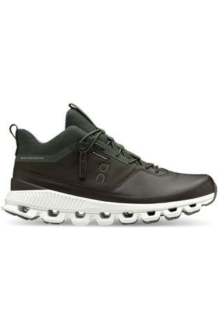 On Running Schoen Cloud Hi Waterproof Men Donkergrijs/Wit