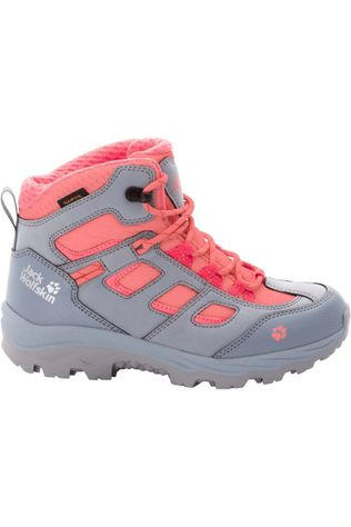 Jack Wolfskin Chaussure Vojo Texapore Mid Gris Clair/Rose Saumon