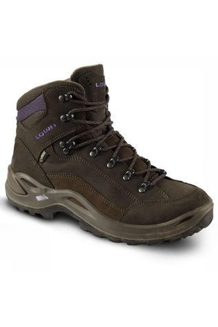 Lowa Shoe Renegade Mid Gore-Tex Mid Brown/Aubergine