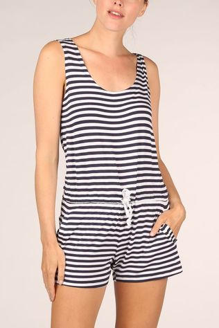 Esprit Jumpsuit Port Beach Playsuit Wit/Blauw