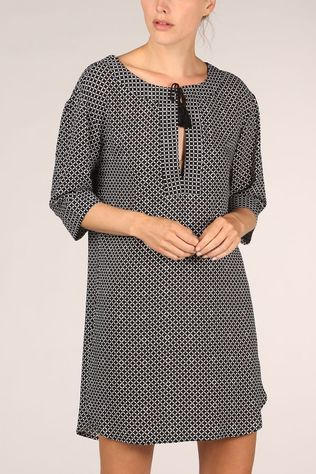 Esprit Robe Daytonah Beach Dress 3/4 Sleeve Noir