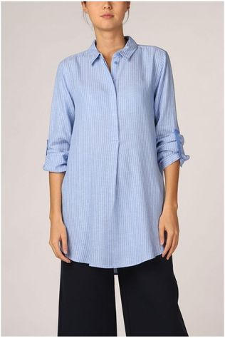 Tom Tailor Blouse 1016196 Lichtblauw/Wit