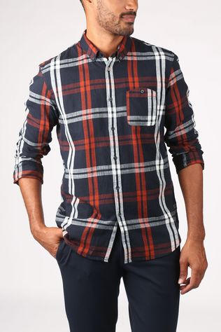 Tom Tailor Shirt 1022206 dark blue/rust