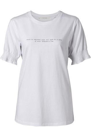 Yaya T-Shirt Smocked Sleeve With Text Print Wit