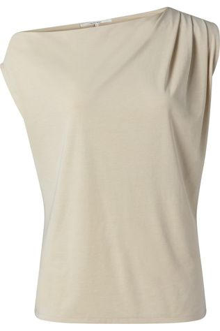 Yaya T-Shirt Asymmetric With Pleast At Shoulder Ecru