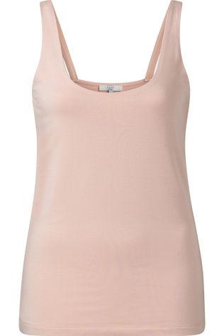 Yaya T-Shirt Double Layer Singlet With Round Neck Lichtroze