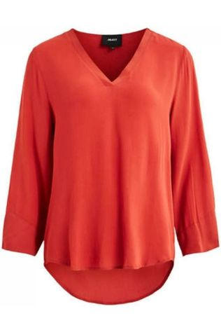 Object Blouse Bay 3/4 Seasonal Rouge Moyen/Rouge