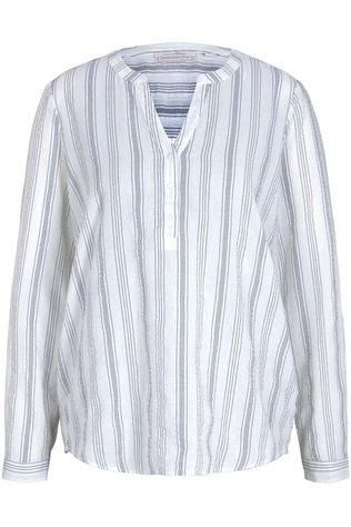Tom Tailor Shirt 1024140 Off White/Navy Blue
