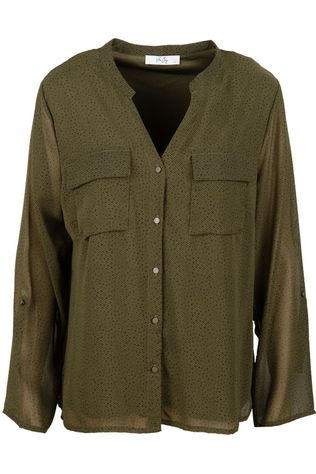 Vila Joy Shirt Pumpkin-L-22-A dark khaki