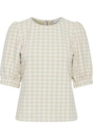 B.Young Blouse Bysilano Ecru/Brun Sable