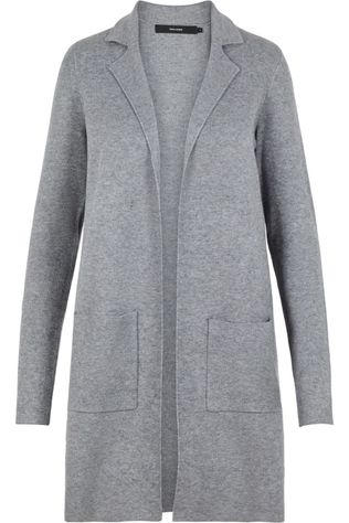Vero Moda Blazer  Tasty Full Needle Ls New Coatigan Noos Dark Grey Marle