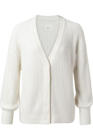 Yaya Cardigan Rib Stitch Steen
