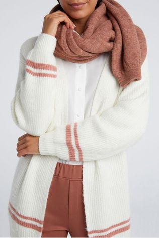 Yaya Cardigan With Stripes Gebroken Wit