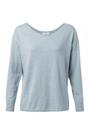 Yaya Trui Cotton Cashmere Mix Boat Neck Lichtblauw