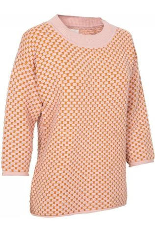 Numph Pullover Nuinessa mid pink/rust