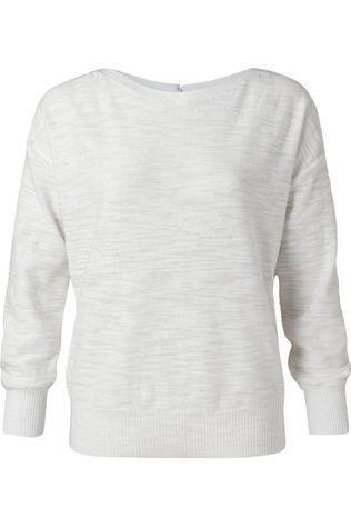 Yaya Pull Boatneck With Rib Stitch Detail Blanc