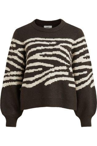 Object Pullover  Darma L/S Knit Pullover 110 off white/dark brown