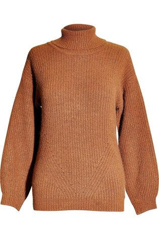 Vila Joy Pullover Spinach-L-12-A brown