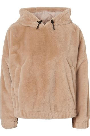 Vero Moda Pullover donnakiona Short Faux Fur Hoodie Vip light brown